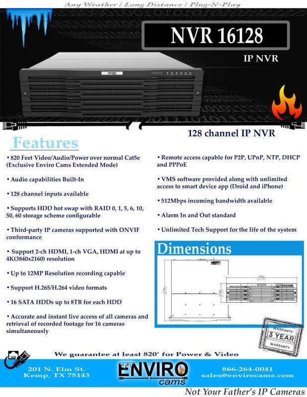 NVR16128SpecPage1
