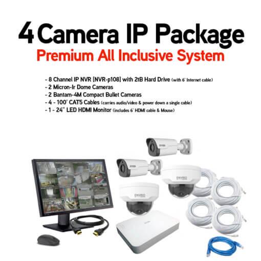 4 Camera IP Package
