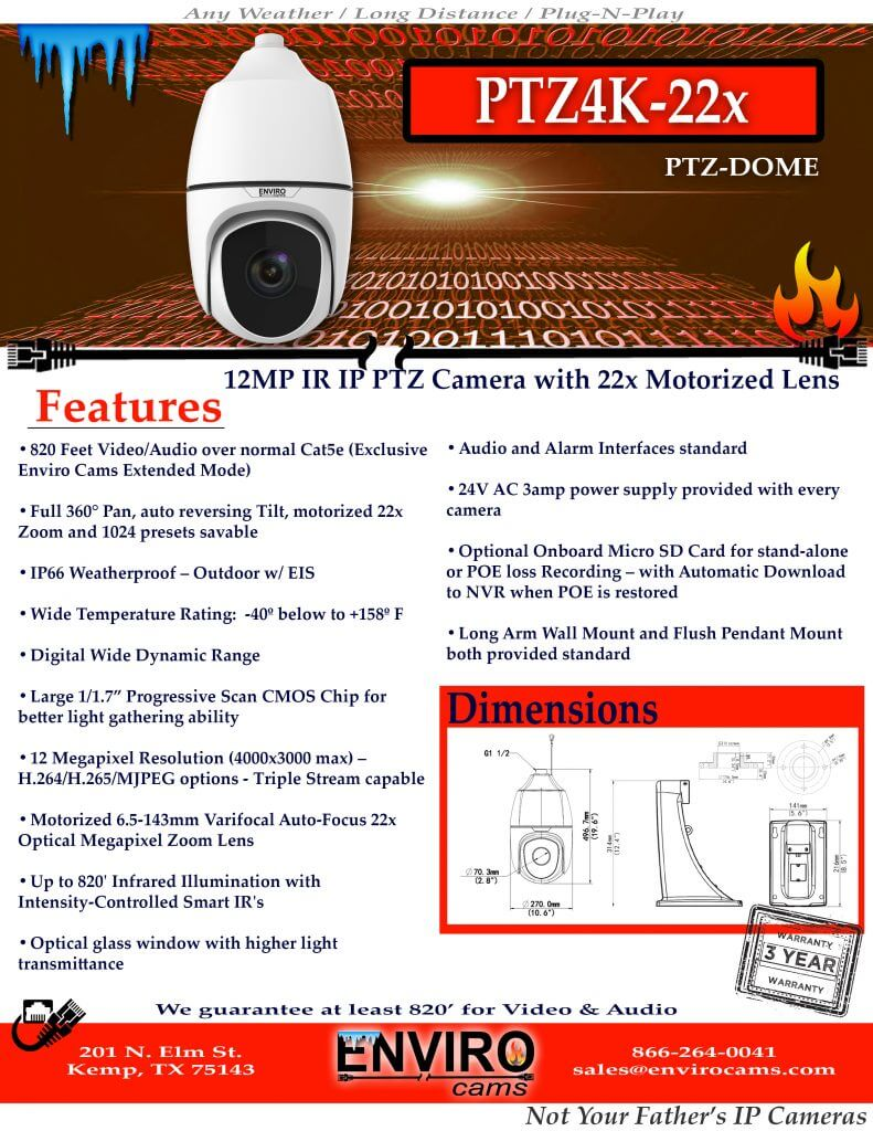 PTZ4K-22x Spec Page 1