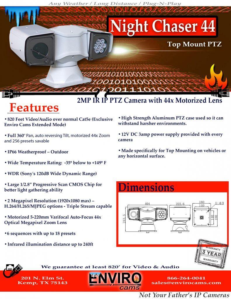 Night Chaser 44 PTZ Spec Page1